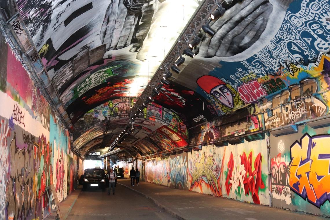 Graffiti, street art, London, Banksy, Waterloo, Lambeth, tunnel , City