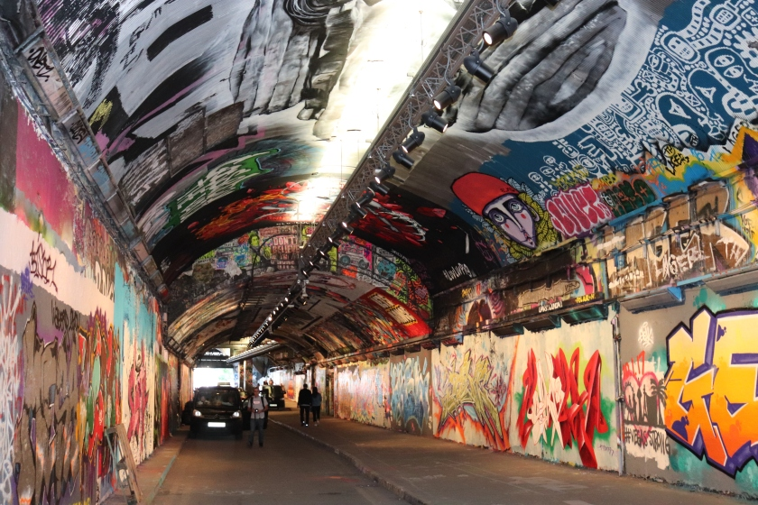 Graffiti, street art, London, Banksy, Waterloo, Lambeth, tunnel , City