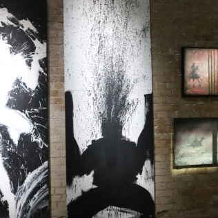 Art Exhibition in The Rat Bar in Leake St, Waterloo London.