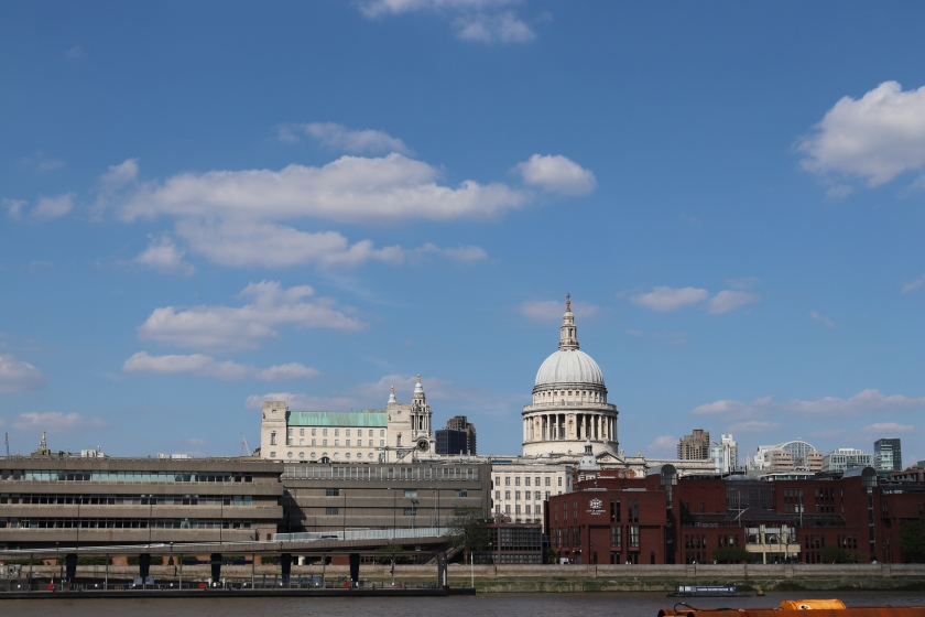 St Paul's Cathedral photographed  from the Southbank side of the River Thames in Summer 2018. London, UK.