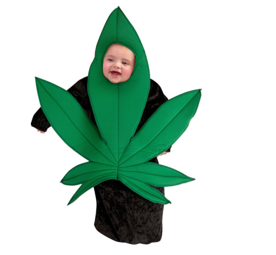 baby pot leaf worst halloween costumes 2018