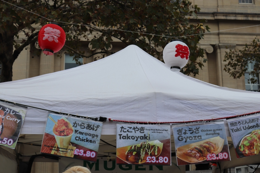 Japanese food sellers at the Matsuri event in London