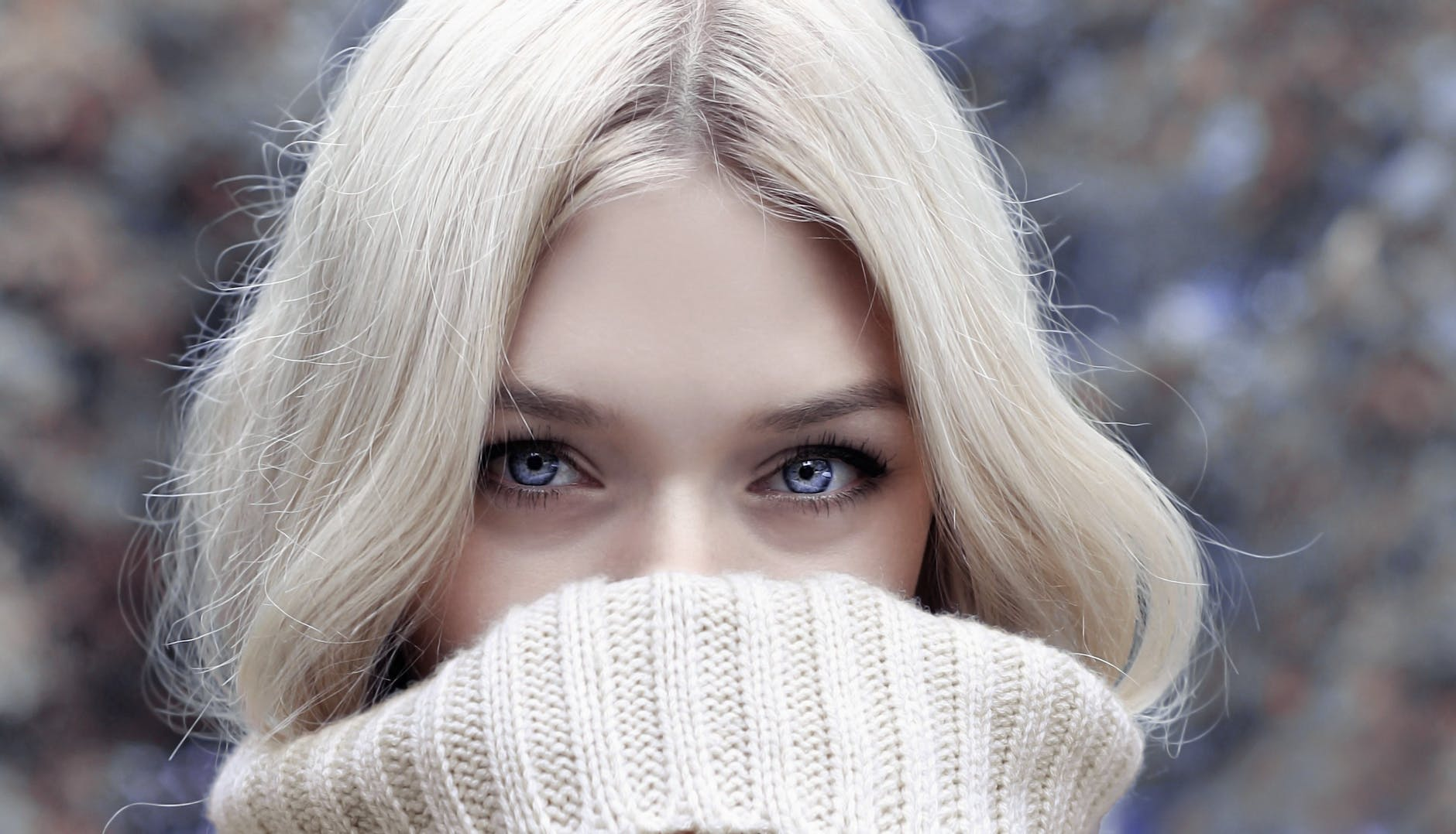 beautiful beauty blond blur winter blues
