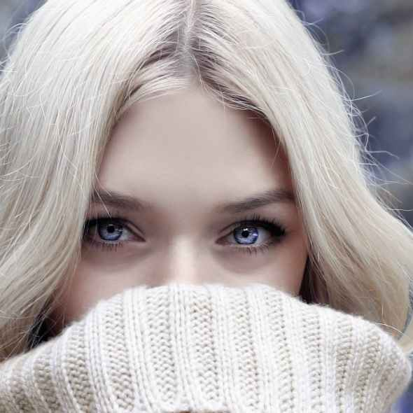 beautiful beauty blond blur winter blues